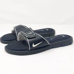 Nike Black Comfort Footbed Velcro Slides
